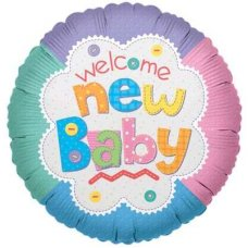 SPECIAL! Welcome New Baby Quilt  (17449-18) Round P1