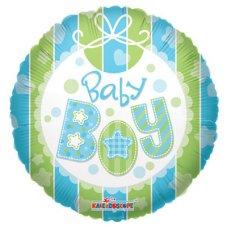 Baby Boy Bib (19221-18) Round P1