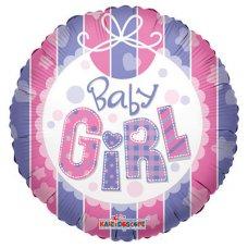 Baby Girl Bib (19223-18) Round P1