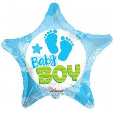 Baby Boy Footprints Star (15378-18) Star P1