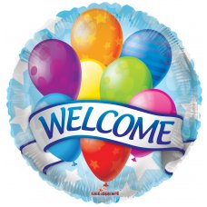 Welcome Banner & Balloons (15405-18) Round P1