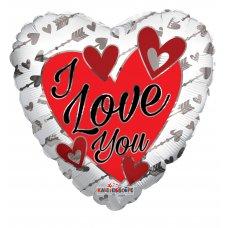 I Love You Silver Arrows (15426-18) Heart P1