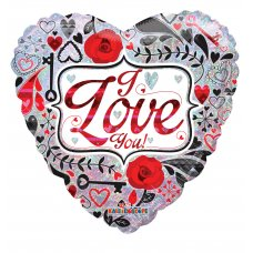 Contemporay Love Holographic (19626-18) Heart P1