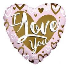 I Love You Gold & Pink Matte (16226-18) 18
