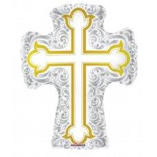 Silver & Gold Cross 28