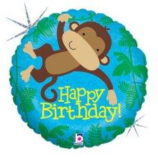 SPECIAL! Monkey Buddy Birthday (36148P) Round H P1