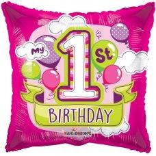 1st Birthday Girl Balloons GB (15044-18) 18
