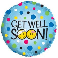 Get Well Soon Smileys (114841HP) Round P1