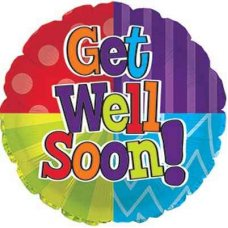 Get Well Dots & Stripes (114034HP) Round P1