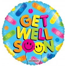 Get Well Balloon Smiles GB (15070-18) 18