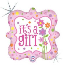 SPECIAL! It's a Girl Flowers (36205P) SquareH P1
