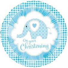 Sweet Baby Elephant Blue Christening (98820HP) 18