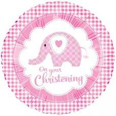 Sweet Baby Elephant Pink Christening (98819HP) 18