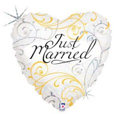 SPECIAL! Just Married Filigree (36163P) Round H P1