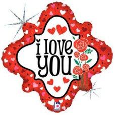 SPECIAL! I Love You Hearts & Roses (36206P) DiamdH P1