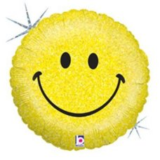 SPECIAL! Smiley Face Holographic (86605P) Round H P1