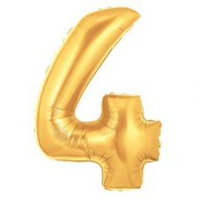 SPECIAL! Gold Megaloon Number 4 (15844GP) Shaped P1