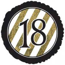 18 Black & Gold Glitter (318100HP) Round  P1