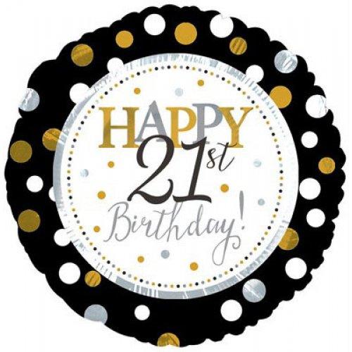 Happy 21st Birthday (117801HP) Round P1
