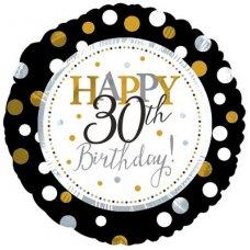 Happy 30th Birthday (117802HP) Round P1
