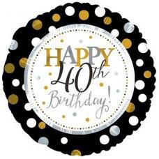 Happy 40th Birthday (117803HP) Round P1