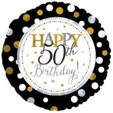 Happy 50th Birthday (117804HP) Round P1