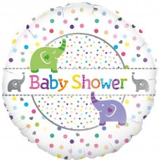 Baby Shower Elephants (Oaktree 228168) Round P1