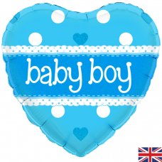 Baby Boy Blue Heart (Oaktree 228199) Heart P1
