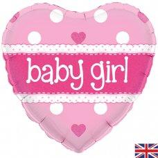 Baby Girl Pink Heart (Oaktree 228205) Heart P1