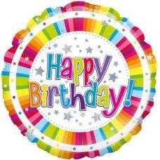 Happy Birthday Bright Stripe (Oaktree 228328) Round P1