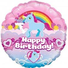 Happy Birthday Rainbow Unicorn (Oaktree 228335) Round P1