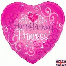 Happy Birthday Princess Pink Heart(Oaktree 228397) Heart P1