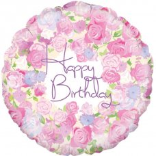 Happy Birthday Vintage Floral (Oaktree 228472) Round P1