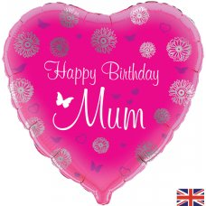 Happy Birthday Mum Pink Heart (Oaktree 228823) Heart P1