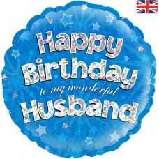 Happy Birthday Husband Blue (Oaktree 228885) Round P1