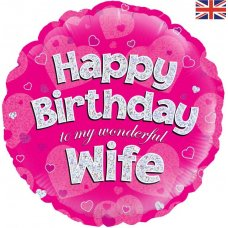 Happy Birthday Wife Pink (Oaktree 228892) Round P1
