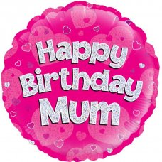 Happy Birthday Mum Pink (Oaktree 229080) Round P1