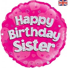 Happy Birthday Sister Pink (Oaktree 229110) Round P1