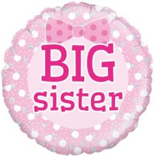 Big Sister Pink Bow (Oaktree 229486) Round P1