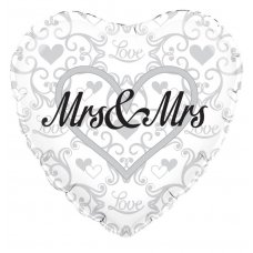 Mrs & Mrs Silver Filigree (Oaktree 229219) Heart P1