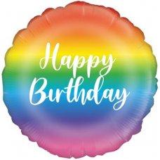 Rainbow Happy Birthday (Oaktree 229653) Round P1