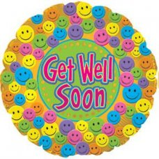 Get Well Soon Smiley (114343HP) Round P1