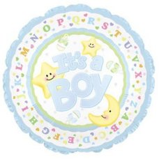 SPECIAL ! Its A Boy Moon & Stars (114290) Round P1