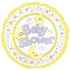 Baby Shower Moon & Stars (114287) Round P1