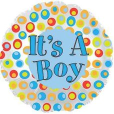 It's A Boy Colourful Dots  (114836HP) Round P1