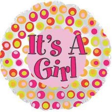 It's A Girl Colourful Dots (114835HP) Round P1