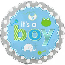 It's A Boy Baby Icons (114074HP) Round P1
