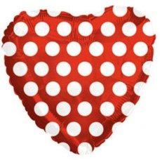 Red w/White Polka Dots (214017) Heart P1