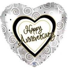 Anniversary Swirls (214587) Heart P1