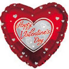 HVD Lots of Silver Hearts on Red (214292) Heart P1